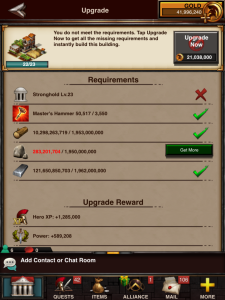 Farm 23 Upgrade Requirements and Rewards