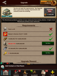 Storehouse 23 Requirements