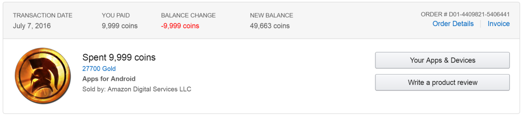 amazon coins purchase