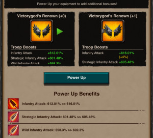Power Up Stats