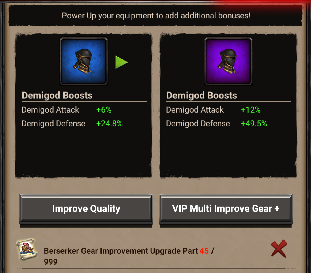 Demigod Improvement