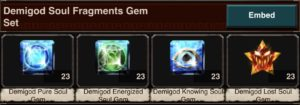 Demigod Soul Fragment Gem Set