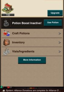 Potion Craft screen