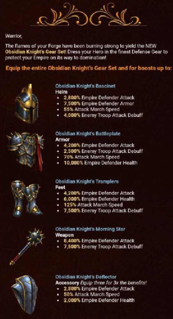 Obsidian Knight Set