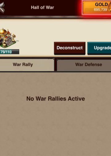 War Rally tab