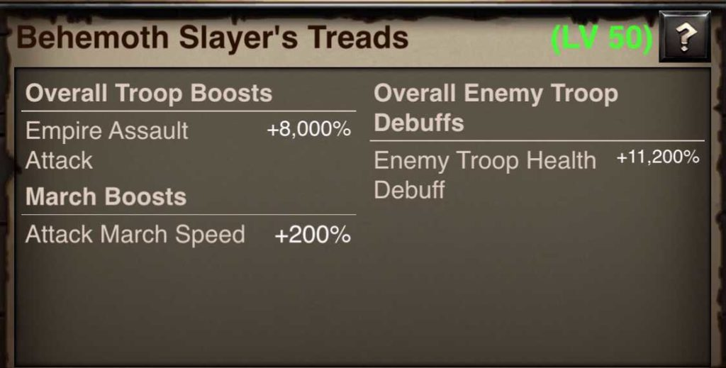 Behemoth Slayer Treads stats