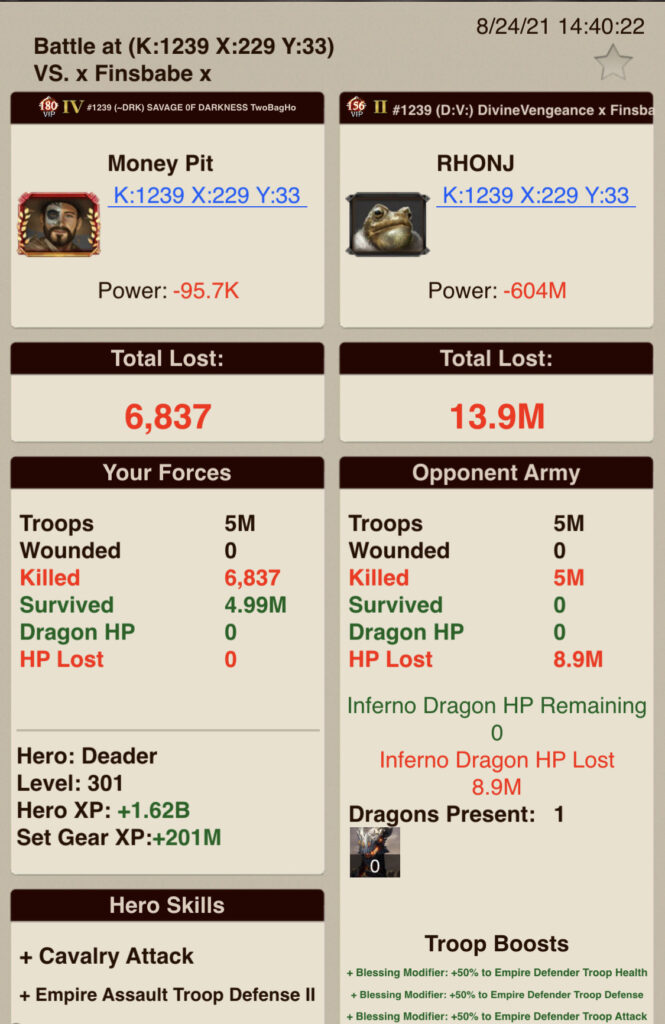 A4_T7 v T7 + Inferno_Healthy Dragon + Specific Skilling