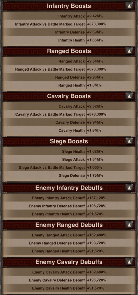 Fins' Type and Siege Stats