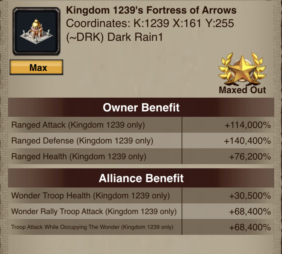 Fortress of Arrows Boosts
