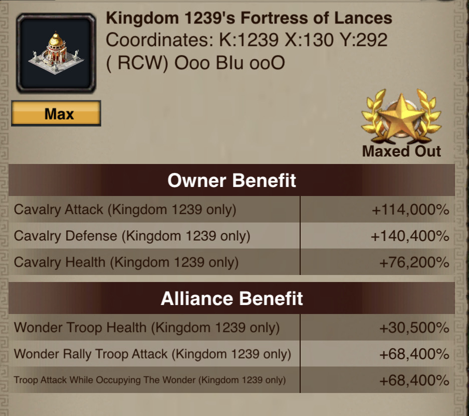 Fortress of Lances Boosts
